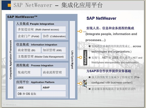 sap netweaver and mysap crm vision Sap web application server is a platform for all mysapcom components (like crm and business intelligence) but is also a fully j2ee compliant environment.