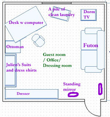 Guest Room/Office/Dressing Room Layout and changes to be made...