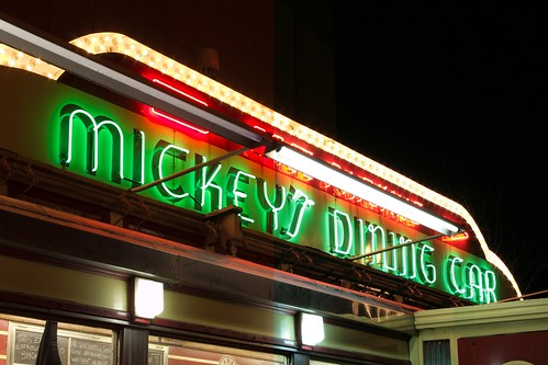 RAW test - Mickey's Diner Sign