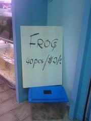Chopped Frog, $2