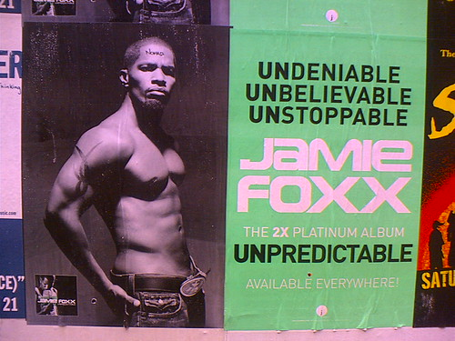 A poster for Jamie Foxx\x26#39;s hot model photos album ... hot model photos