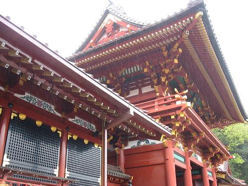 Kamakura - hram, kantun, kiša