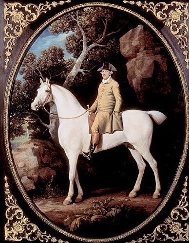 Stubbs - Self-portrait on a White Hunter