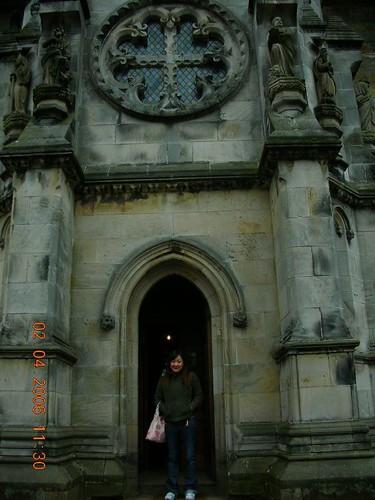 Entrance of Rosslyn off Da Vinci code