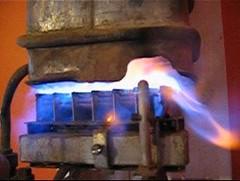 Flaming calefon