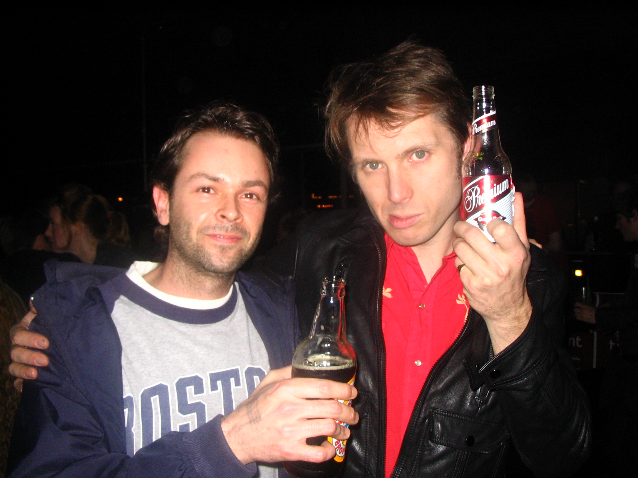 Steve and Alex Kapranos (Franz Ferdinand) during Ladytron live @ First Avenue, 4/22/06, Minneapolis, MN.
