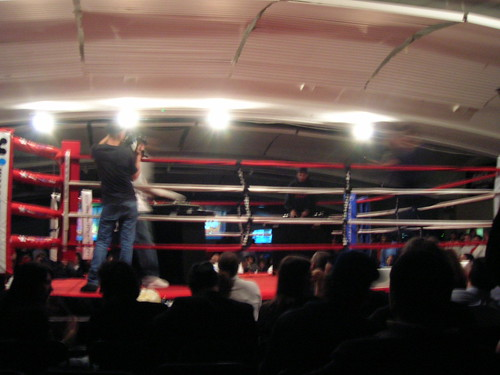 boxing ring DJ battle