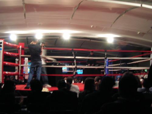 boxing ring DJ battle