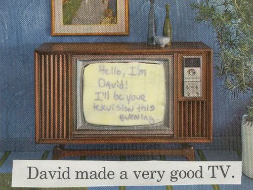 david made a very good tv