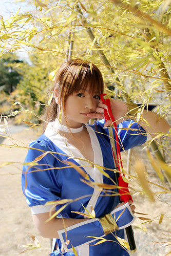 This hot Japanese chick, cosplaying as Kasumi from Dead Or Alive, would have loved Yukio Mishima's Sea of Fertility tetralogy