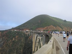 Runners on Bixby Bridge