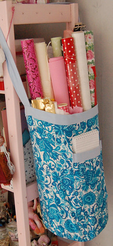 Fabric basket for paper