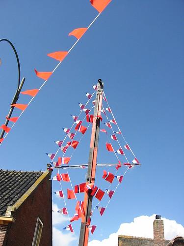 vlagen voor de koningin