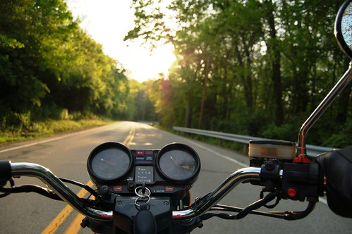 May + motorcycle = proof that God loves us and wants us to be happy