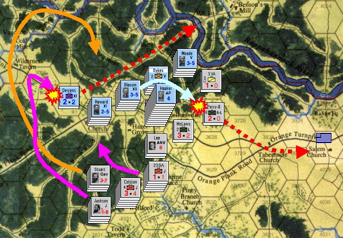 序盤の攻勢は両軍とも左翼から