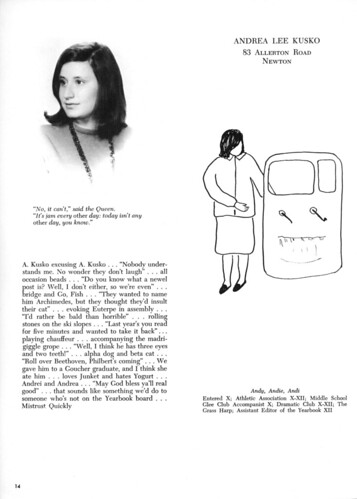 Andrea Kusko - Yearbook Page