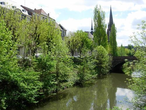 vue campagnarde en plein Strasbourg