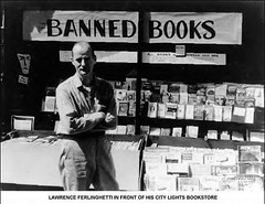 Lawrence Ferlinghetti, City Lights Bookstore on Columbus