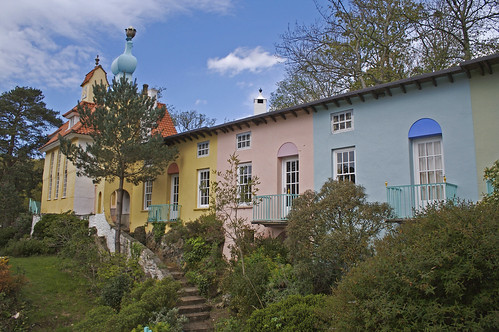 Colourful houses - Portmeirion, Wales.