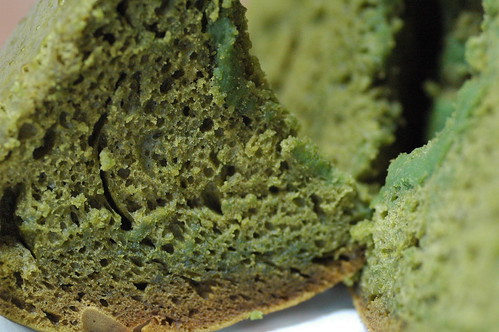 steamed green tea bread