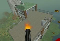 Gun balloon firing