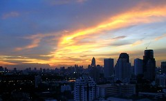 Sunset of Bangkok