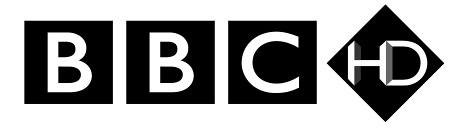 BBC HD Logo 2 - White + Glow
