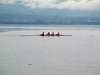 Rowing past Evian