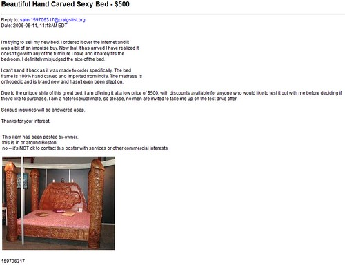 A special bed -- May 11, 2006