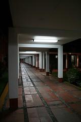 Walkways at night