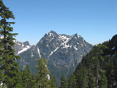 Merchant Peak From Route To Baring Mtn