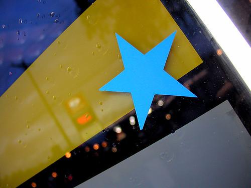 blue star, yellow stripe