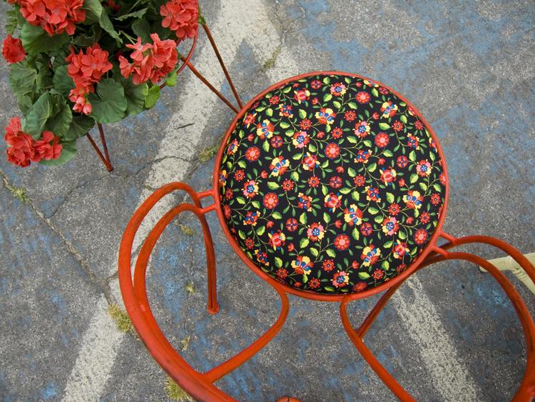 flowered chair