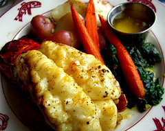 Lobster Tail, Red Potatoes and Baby Carrots