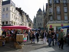 Marknad i Saint-Quentin