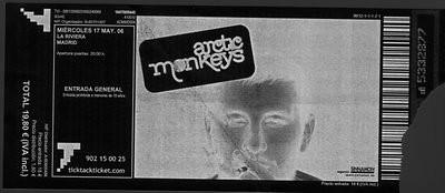 Entrada Arctic Monkeys (negativo)
