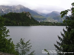 The surrounding alps ~ picture taken from Bled Island.