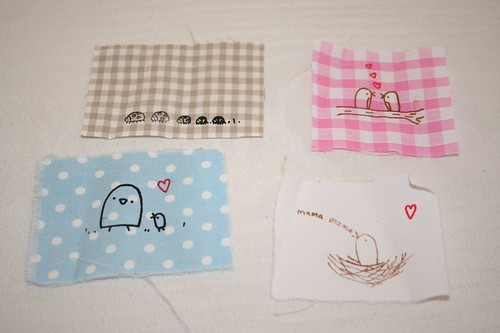fabric squares from Lyn