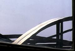Arc of black silver in metal blue