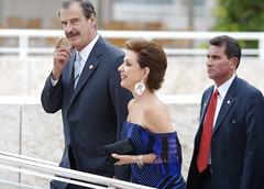 President Vicente Fox and his wife Marta