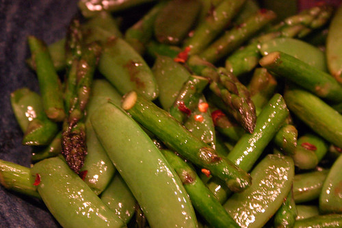 Asparagus with Sugar Snap Peas
