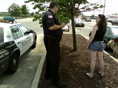 Cop taking statements