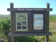 Abbotts Lagoon - Sign