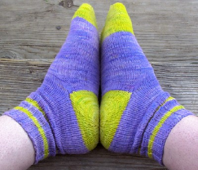 Purple Yellow Socks