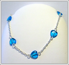 blueheart-anklet