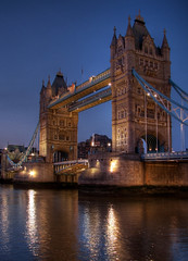 Tower Bridge at Night HDR 4253 photo by Keith Marshall