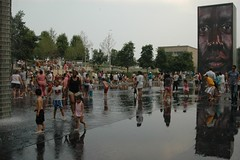Crown Fountain, wide view