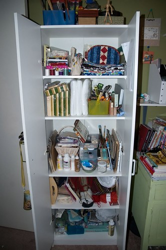 my organized craft closet