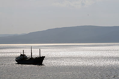 Ship in the Dardanelles