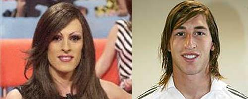 Parecido razonable entre Deborah Ombres y Sergio Ramos